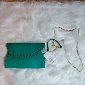 Jade Envelope Clutch